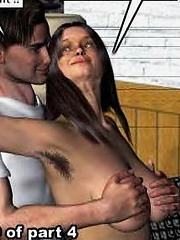 Top-class incest scene in hq pics - swarthy mama rides her son`s meat